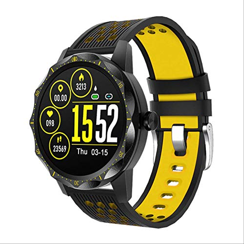 Toule-Fitness IP67 Impermeable SmartWatch frecuencia cardíaca Bluetooth Deportes SmartWatch Hombres SmartWatch Amarillo.