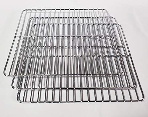 Unifit Cooking Grate Jerky Rack Replacement Parts for Pit Boss 2 Series 3 Series 4 Series Propane Gas Smoker and Electric Smoker (Cooking Rack 3 PC for Pit Boss 2 Series and 3 Series)