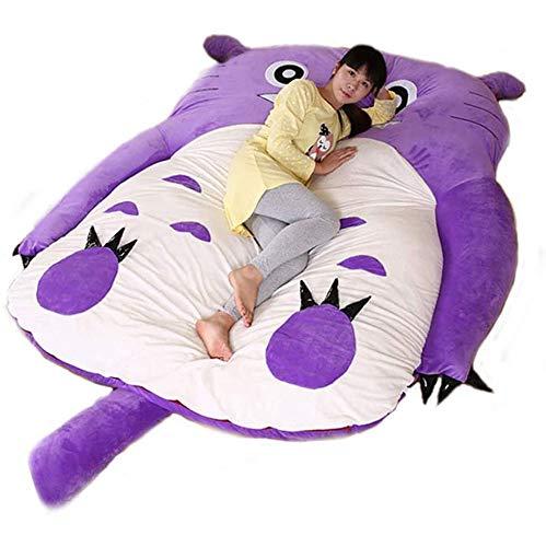 VIVICL Tatami Matratze Totoro Soft Thicken Cartoon Sitzsack Bett Lazy Matratze Nette Kind Schlafsack Chinchilla Schlaf Sofa, Lila,200 * 170cm