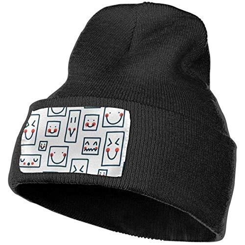 AEMAPE Lindo Patrón Invierno Gorro de Punto Suave Sombrero Caliente Gorros Sombrero para Hombres Mujeres Skull Cap