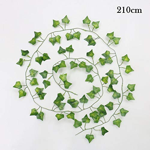 Artificial Plant Green Creeper Ivy Vine Leaves Wedding Home Decoration Wholesale Diy Hanging Wreath Artificial Flowers