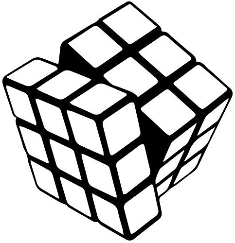 Dibujos Animados Rubik Cube Vinilo Cocina Pegatinas De Pared Tatuajes De Pared Decoración 58X60Cm