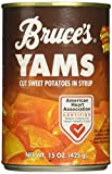 Bruce's, Yams, Cut Sweet Potatoes in Syrup, 15oz Can (Pack of 6) (Choose Can Sizes Below) ...