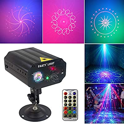 Party Lights Dj Disco Lights, Strobe Stage Light Sound Activated Multiple Patterns Projector with Remote Control for Parties Bar Birthday Wedding Holiday Event Live Show Xmas Decorations Lights from SPOOBOOLA