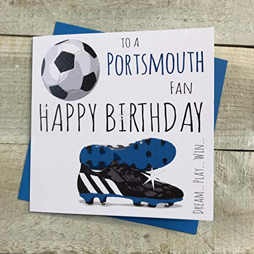 Portsmouth Pompey FC Football Club Birthday Card - by WHITE COTTON CARDS - 52