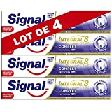 Signal Integral 8 Dentifrice Formule Antibactérienne au Pro-Time Zinc Protection Caries, Gencives Renforcées Email Renforcé Action Blancheur Haleine Fraîche Anti-Plaque & Anti-Tartre (Lot de 4x75ml)