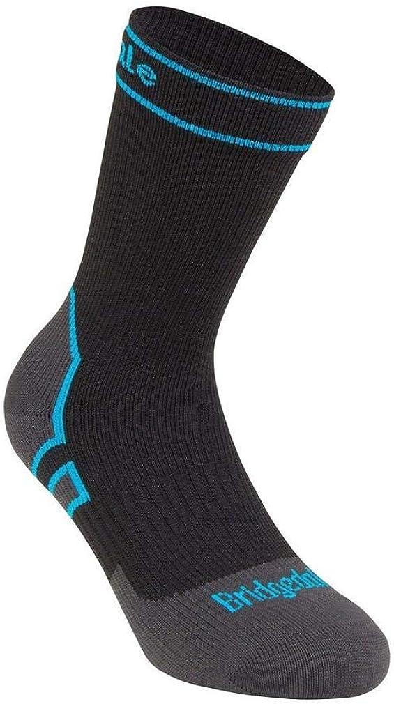 Bridgedale StormSock Midweight Boot Length Waterproof Merino Wool Sock, Black/Blue, S