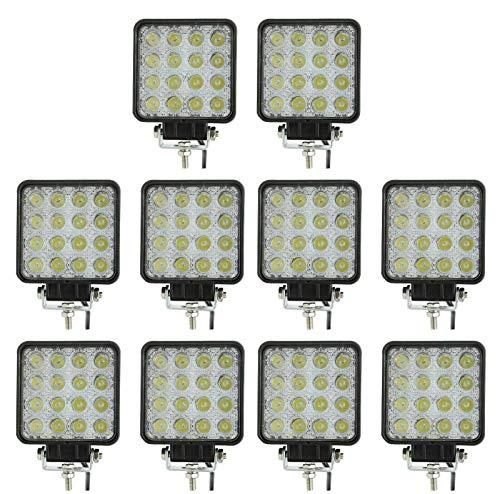 10X 48W WATT LED LUCE FARO 12V LAMPADA DA LAVORO FARETTO AUTO BARCA CAMION