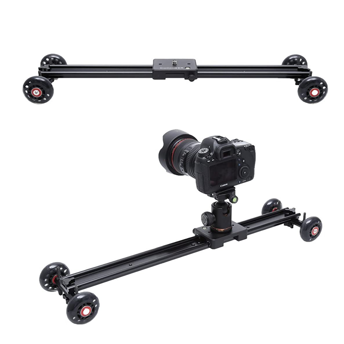 SAILNOVO Camera Slider, Aluminum DSLR Dolly Track Rail Perfect for Photography and Video Recording with 1/4