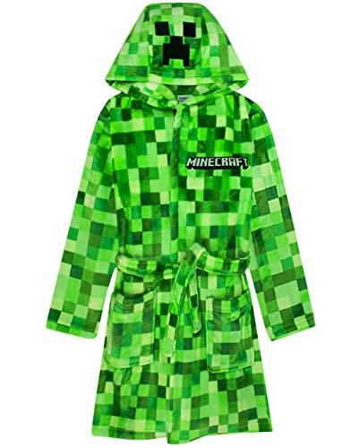 Minecraft Dressing Gown Pixelated Creeper Gamer Geschenk Jungen Bademantel 7-8 Jahre