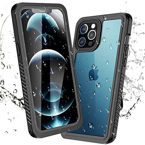 meritcase New Designed for iPhone 12 Pro 6.1 Inch Waterproof Case, Quality Built-in Screen Protector Full Sealed Cover, Anti-Scratch Shockproof Dustproof IP68 Waterproof Case for iPhone 12 Pro 2020