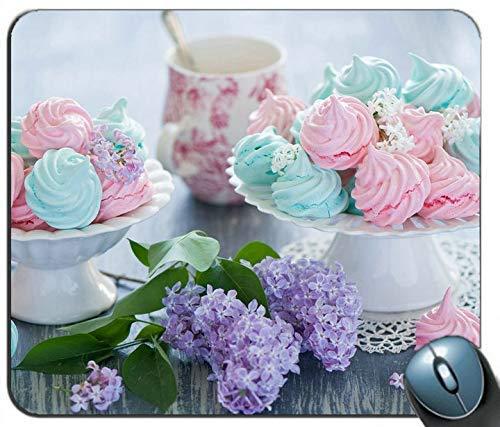 Süßspeisen Baiser Dessert Creme Blumen M.ouse Pad Anti-Rutsch-Desktop-Mauspad Gaming-Mauspad
