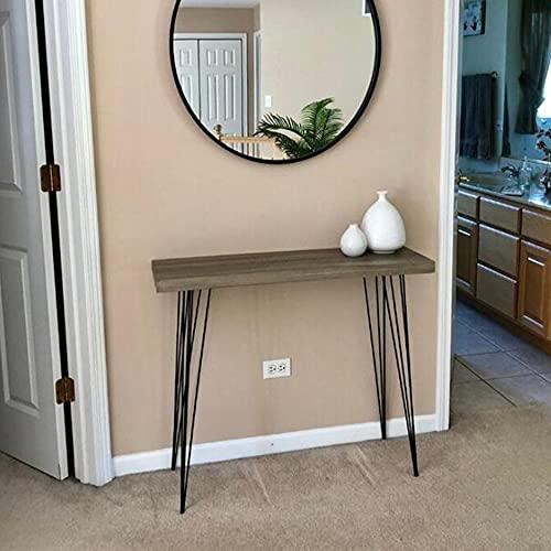 Liang - Tavolo da consolle per ingresso industriale, con vano portaoggetti, per divano, salotto, corridoio, 80 x 30 x 80 cm (colore: 02)