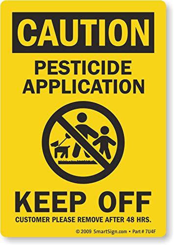 SmartSign 'Caution - Pesticide Application, Keep Off' Write-On Label |...