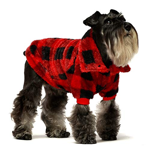 Fitwarm Thermal Turtleneck Dog Winter Coats Thick Velvet Pet Cold Weather Clothes Puppy Jackets Red...
