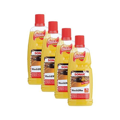 Preisvergleich Produktbild SONAX 4X 03133410 Wasch & Wax Lackpflege Konservierung 1L