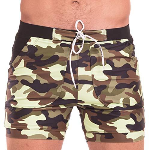 TADDLEE Zwemkleding Mannen Basic Lange Zwemmen Trunk Surf Camo Shorts Badpakken Pocket