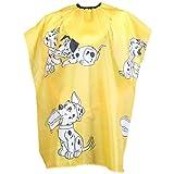 Babysbreath Perro de dibujos animados Niños Peluquería Cabo Ropa Salon Peinado Cubierta Peluquería Peluquería Impermeable Corte de Pelo Paño amarillo