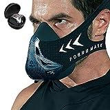 Máscara de Entrenamiento Workout Mask Fitness, Running,Resistencia, Cardio, Máscara de Ejercicio para Entrenamiento y Acondicionamiento de Gran Altitud (Fibra de Carbon)