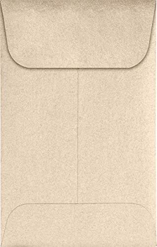 Ranking Max 62% OFF TOP2 LUXPaper Coin Envelopes Taupe Metallic 2 4-Inch 1 2-Inch x 3