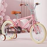Morinome 子供用自転車 キッズバイク 20インチ 女の子 補助輪付き 超軽量 シート / 滑り止めハンドル...