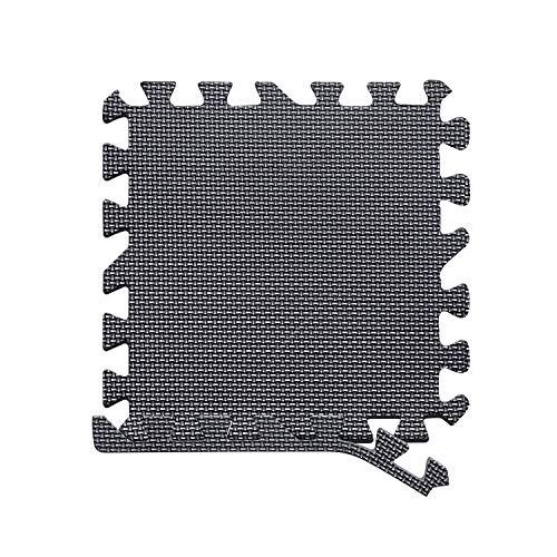 arteesol Schutzmatten Set - 18 Puzzlematten je 30x30x1cm,Premium Bodenschutzmatten Unterlegmatten Fitnessmatten für Sport Fitnessraum Fitnessgeräte Fitness Pool (Matten-Schwarz)