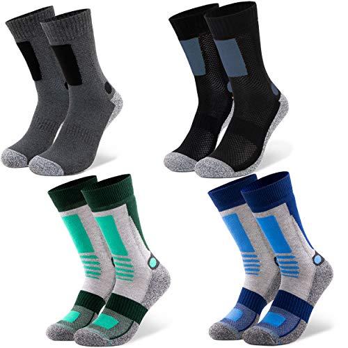 Occulto 2 | 4 paar heren wandelsokken | wandelsokken | outdoorsokken | functionele sokken met gevoerde zool maten | wintersokken heren …