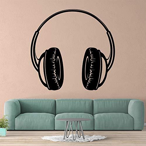 Yaonuli mooie hoofdtelefoonuitgang decoratieve vinylwandsticker decoratieve woonkamer slaapkamer verwijderbare creatieve stickers van de sticker
