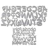 UFLF 2 Juego de Troqueles Letras Troqueles Scrapbooking Alfabeto Metal Plantillas Troquelar Estarcir Cutting Dies para Manualidad Decoración Álbum Recorte Tarjeta Papel DIY