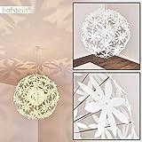 Lámpara de techo Chimore de metal/plástico en blanco - Lámpara de techo para dormitorios - lámpara de salón extravagante con flores de plástico - gran juego de luz en la habitación
