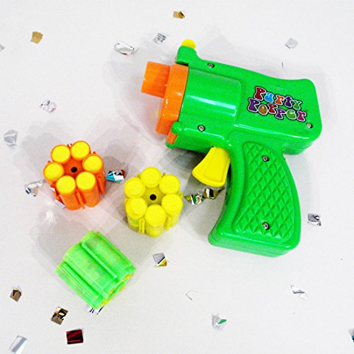 Konfettipistole Lamettaglitzer Party Popper Konfetti Pistole Konfetti Shooter mit Munition Glitter Gun