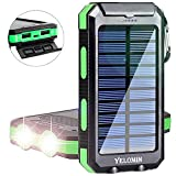 Best Travel Chargers - Solar Charger 20000mAh,YELOMIN Portable Outdoor Mobile Power Bank,Camping Review