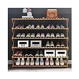 GQQ Hgdd Wood Shoe Rack, Storage Bench – Closet, Bathroom, Kitchen, Entry Organizer, 6Tier Space Saver Shoe Rack,100Cm×25Cm×110Cm Shoe Shelf
