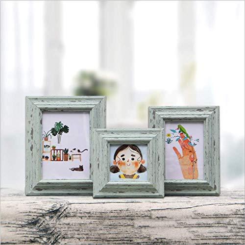 Imitatie Hout Graan fotolijst Creatieve fotolijst Display Muur Ophangen Muur Warme herinneringen Photo Muur 10 * 15cm
