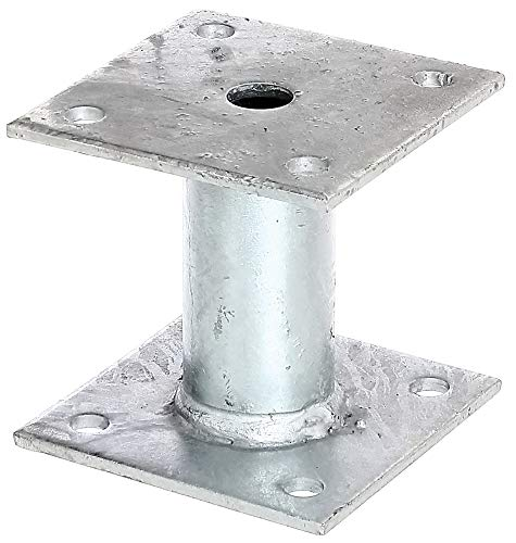 GAH-Alberts 219802 Pfostenträger | zum Aufschrauben | feuerverzinkt | 100 x 100 mm