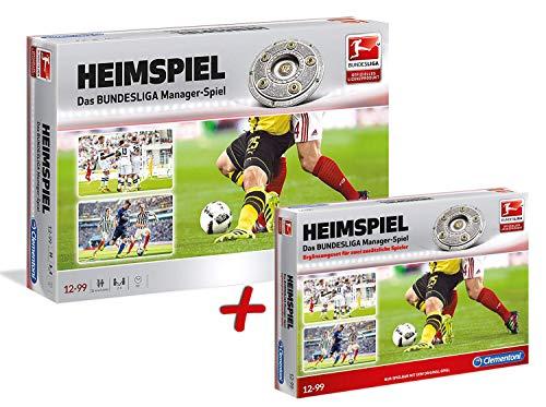 Clementoni Heimspiel Das Bundesliga Manager-Spiel + Ergänzungsset für 2 zusätzliche Spieler