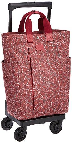 [スワニー] キャリーバッグ D-264フローロ(L21) (ボルドー)三愛オリジナル折りたたみサブバッグ付