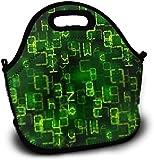Mochila de almuerzo para niños de neopreno, diseño astronómico en una pizarra de almuerzo, bolsas de la compra, bolsa de almuerzo, bolsa con correa ajustable para niños y niñas adolescentes