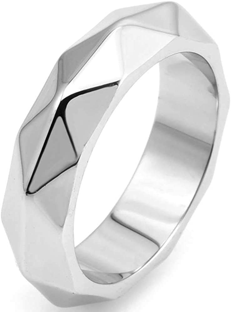 Jude Jewelers 6mm Stainless Steel Faced Classical Simple Plain Wedding Band Ring