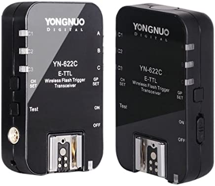 永诺TTL无线触发引闪器YN-622C 支持高速同步达1/8000s 收发一体 佳能版 可用大灯