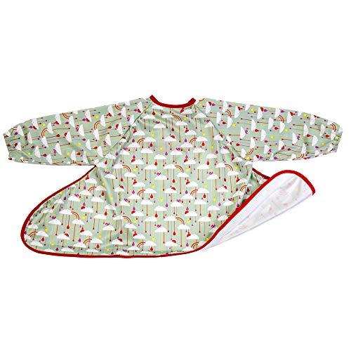 Tidy Tot Lätzchen, Baby-led Weaning, 1 Stück, wasserdichtes Lätzchen mit Ärmeln, weiches Bib im Regenbogen Design, Unisex
