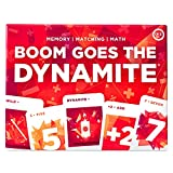 Boom Goes The Dynamite Card Game for Kids, Teens, Adults, Family - Memory Matching Math STEM, 2-6 Players per Deck