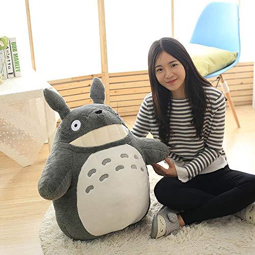 YYY-DOLLS Mein Nachbar Totoro Ghibli Stofftier Plüschtier Kuscheltier Plüsch Figur: Grinsender O Totoro Grau,40CM