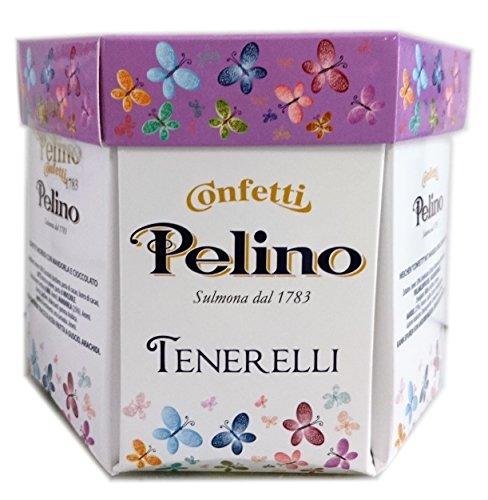 Confetti Pelino Monoporzionati in Bustine Singole, Ciocomandorla Rosa - 300 gr