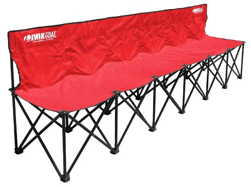 Kwik Goal 6-Seat Kwik Bench - Red