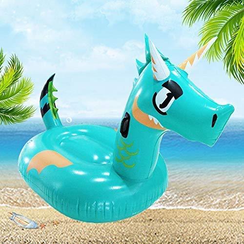 XXY-shop Kinder Drachen schwimmende Reihe aufblasbare Spielzeuge, Kinder schwimmende Bett Schwimmring Sitz Wasser Schwimmspielzeug, Poolspielzeug -175 * 90 * 110cm