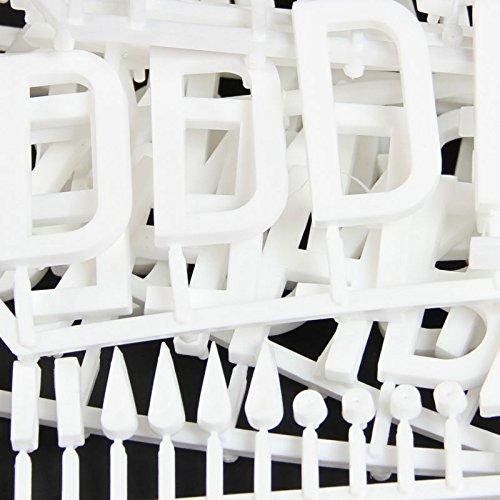 Packung mit 82 weißen 47mm hohen Steckbrettnummern - Perfekt für Restaurants, Cafés und Bars!