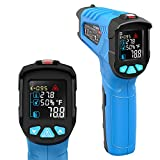 Infrared Thermometer, Non-Contact Digital Laser Infrared Thermometer Not for Human Temperature Gun -58~1022 (-50550) with Color LCD Screen Digital Laser Temperature Gun for Kitchen and Industry