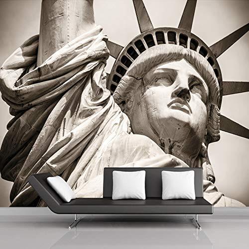 Papel pintado 3D pared moderno Personalice cualquier tamaño Estatua de Liberty City Paisaje Sala de estar Murales grandes 3D Personalidad Tema Hotel KTV 3D Foto Papel tapiz