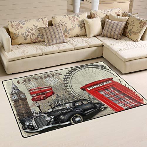Use7 Alfombra antideslizante para salón, dormitorio, 100 x 150 cm